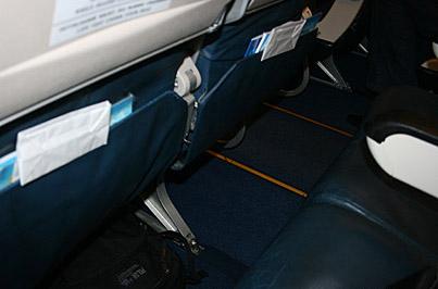 Место пассажира Боинга-737-500