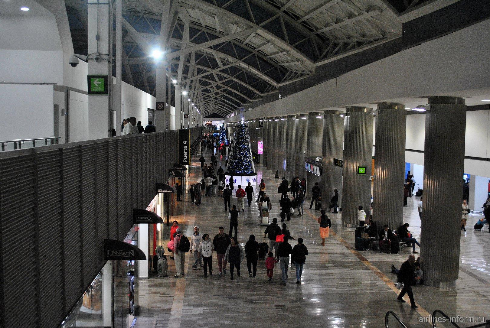 Зал C терминала Т1 аэропорта Мехико Бенито Хуарес