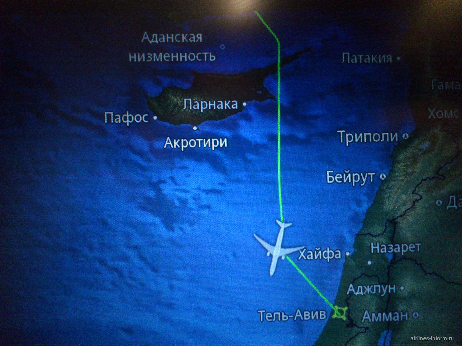 Рейс Аэрофлота Москва-Тель-Авив