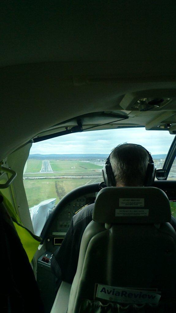 Заход на посадку в аэропорт Курумоч