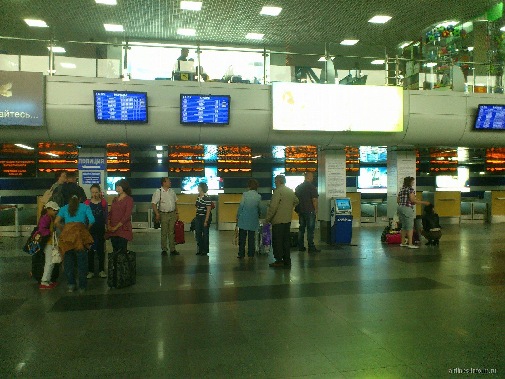 Стойки регистрации в аэропорту Иркутска