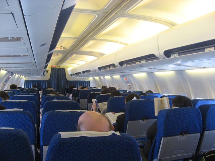 Салон самолета Боинг-737-500 Днеправиа