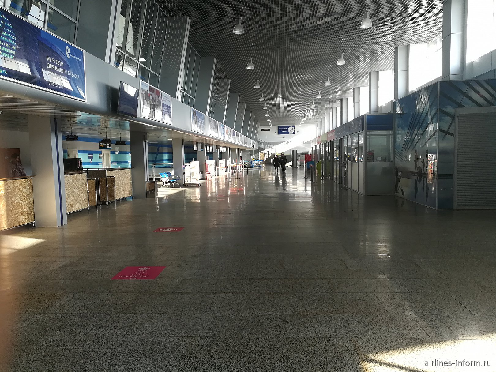 Общий зал в терминале внутренних авиалиний аэропорта Чита Кадал