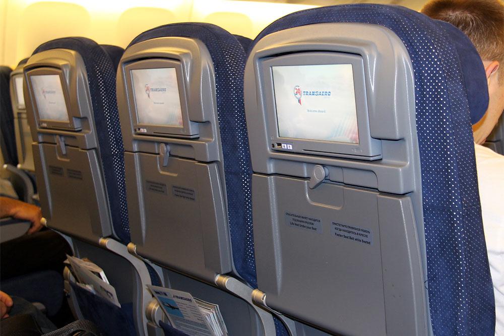 Система развлечений в самолете Боинг-777-300 авиакомпании Трансаэро