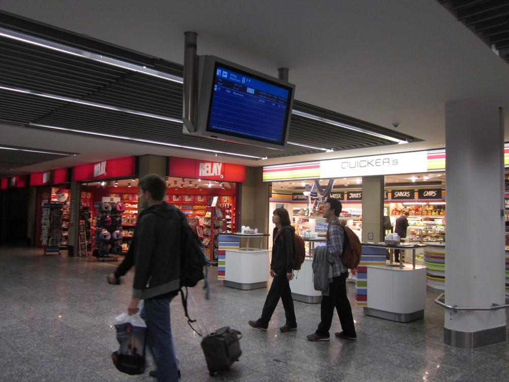 В аэропорту Франкфурта