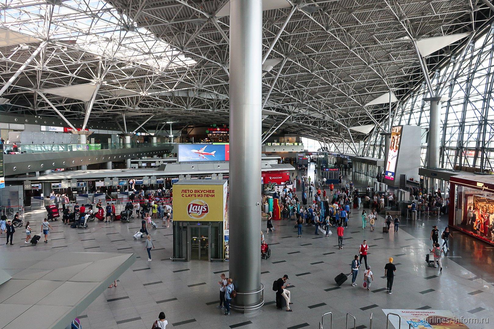 Общий зал в терминале А аэропорта Внуково