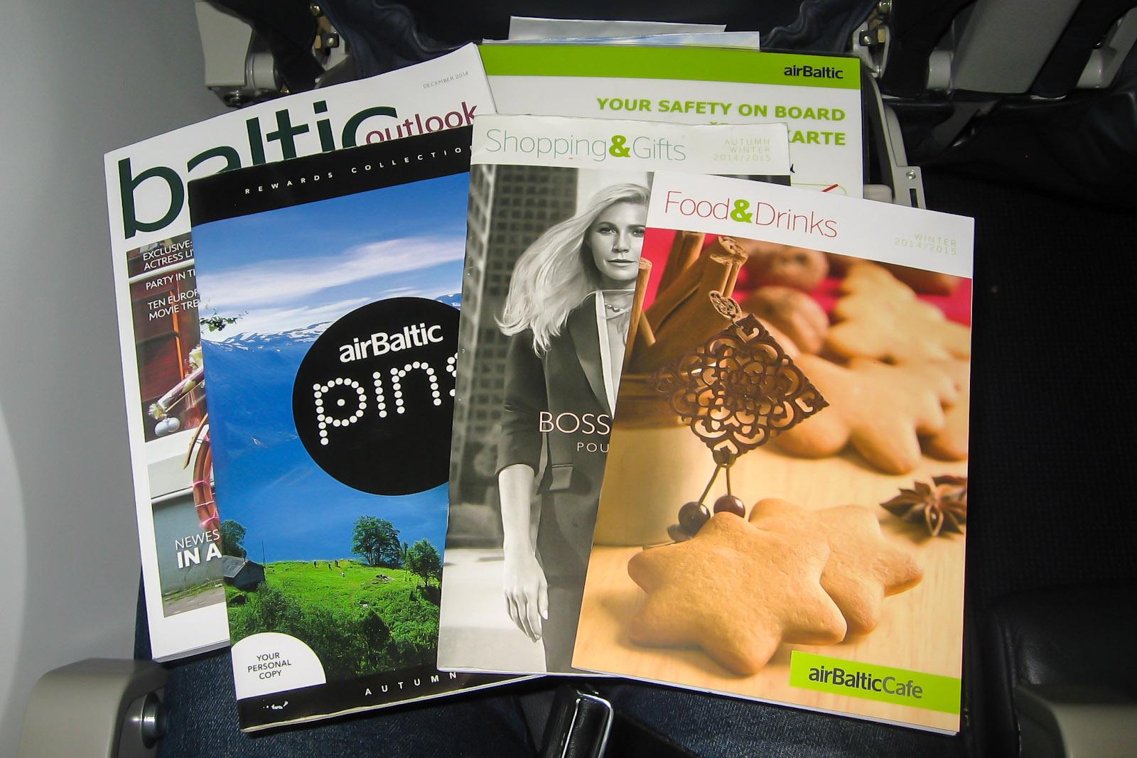 Журналы для пассажиров авиакомпании ЭрБалтик