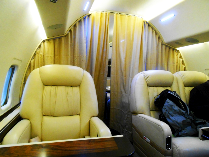 Салон самолета Ту-134 авиакомпании Центр-Юг