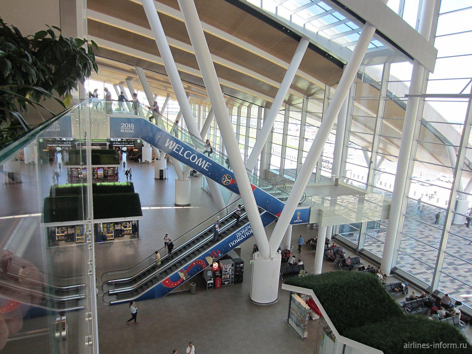 Вид с 3-го этажа пассажирского терминала аэропорта Ростов-на-Дону Платов