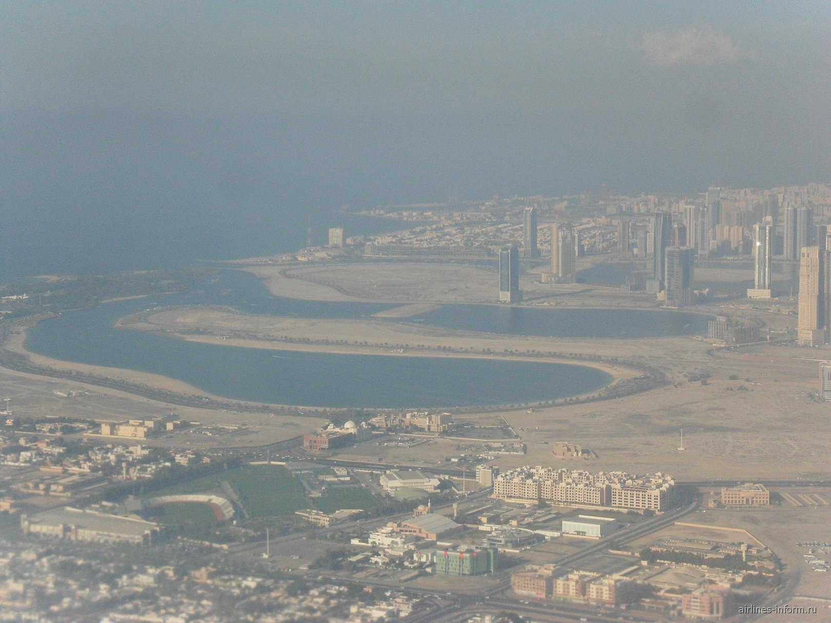 Взлет из аэропорта Дубай