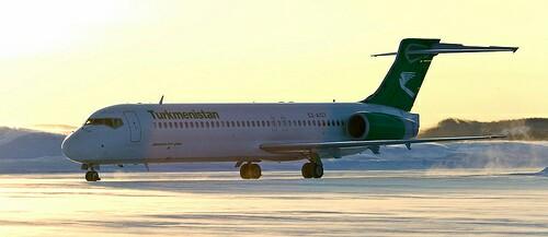 Из Мары в Ашхабад (Туркменистан) на Боинг 717