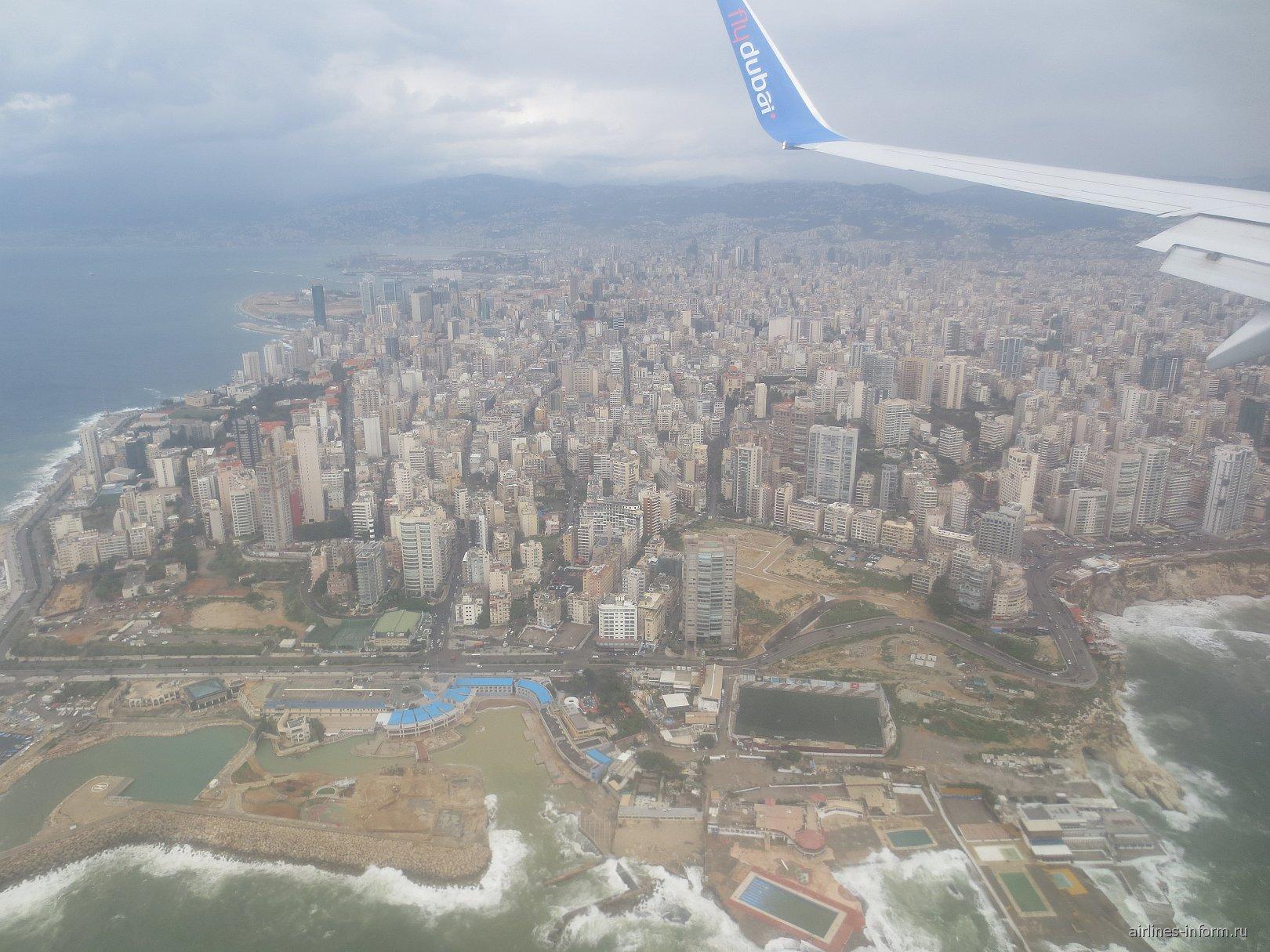 Вид на Бейрут из самолета