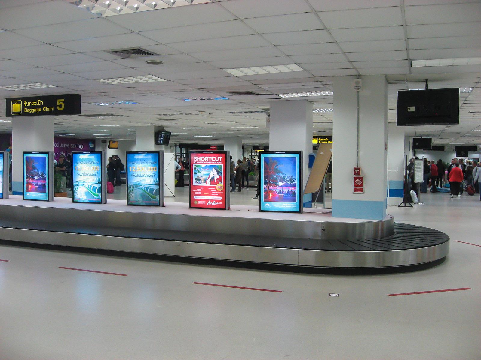 Зал выдачи багажа в аэропорту Пхукет