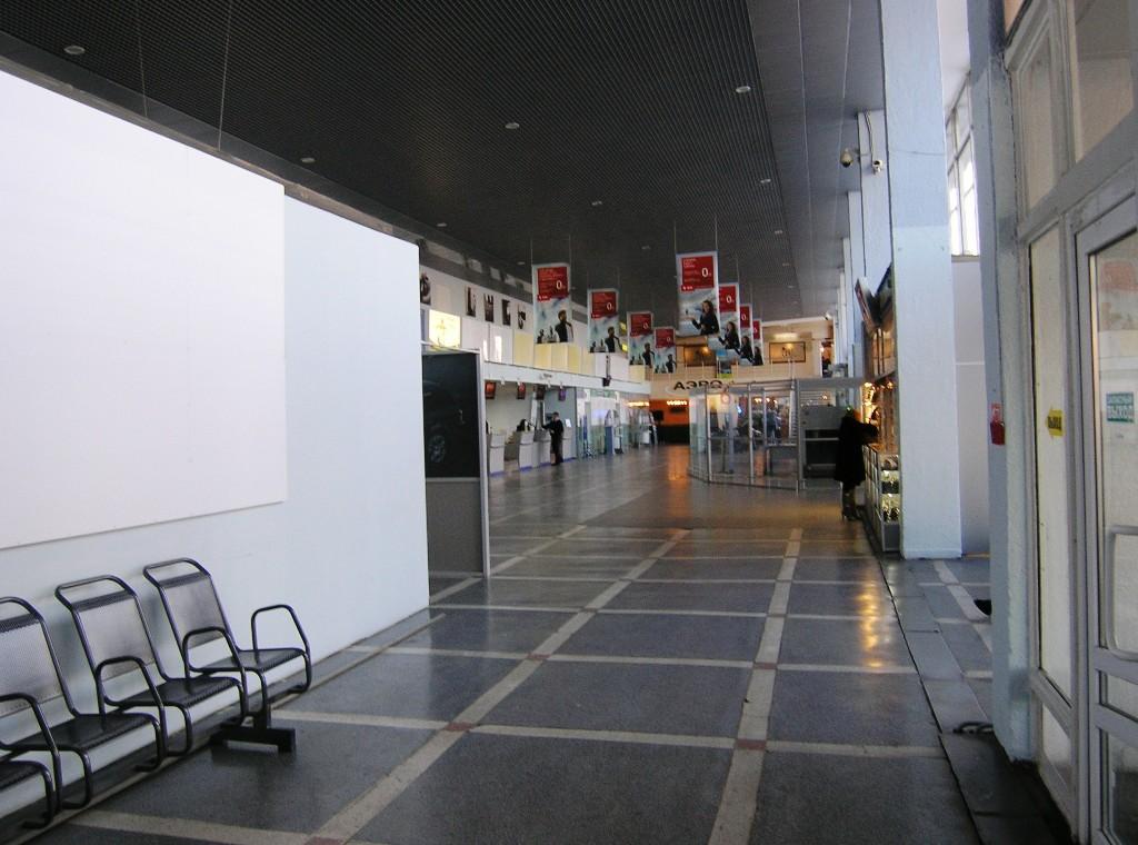 На первом этаже аэровокзала в аэропорту Пермь Большое Савино