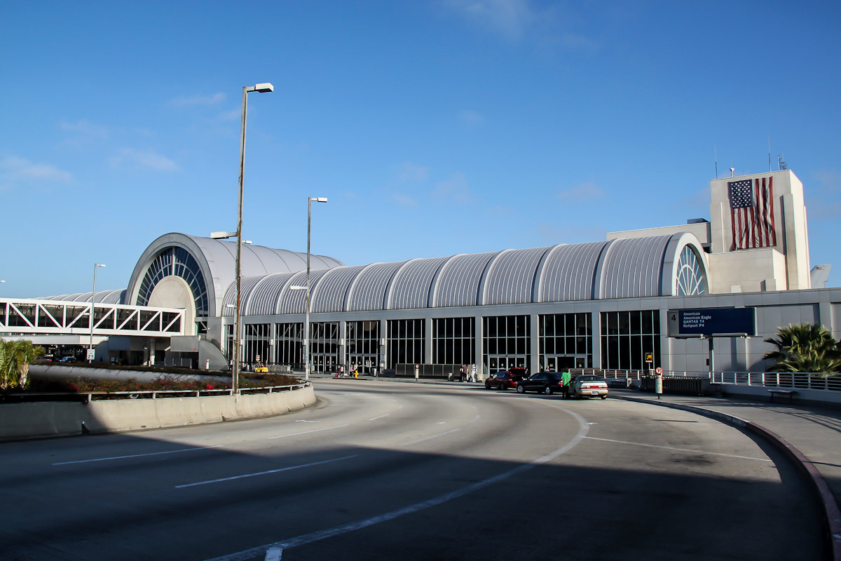 Terminal 4 of Los Angeles airport