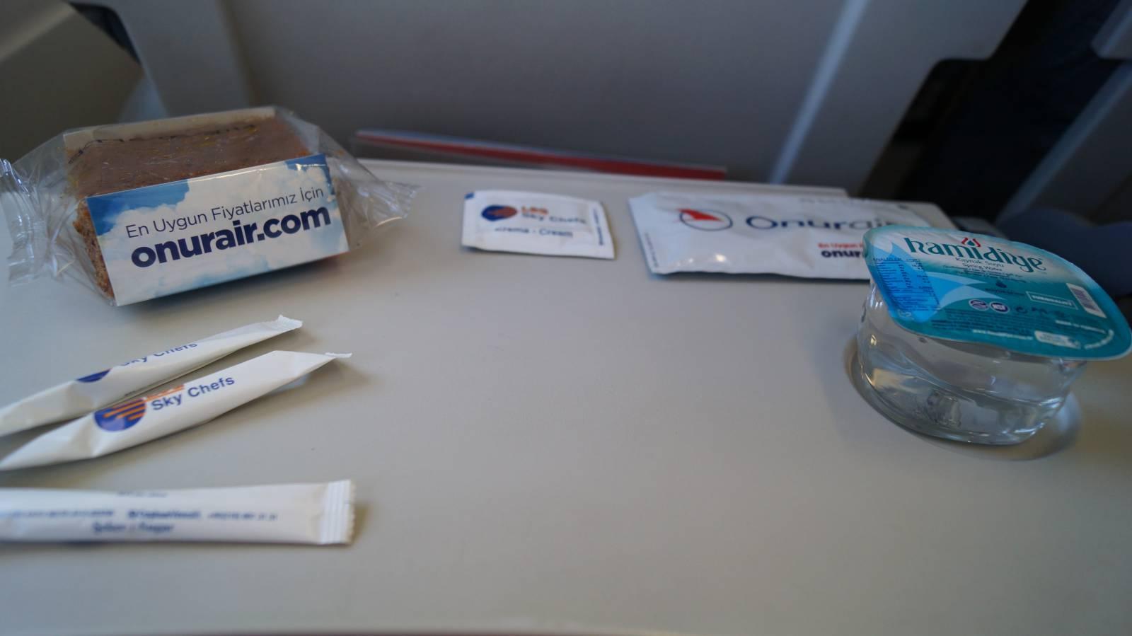 Питание на рейсе авиакомпании Onur Air