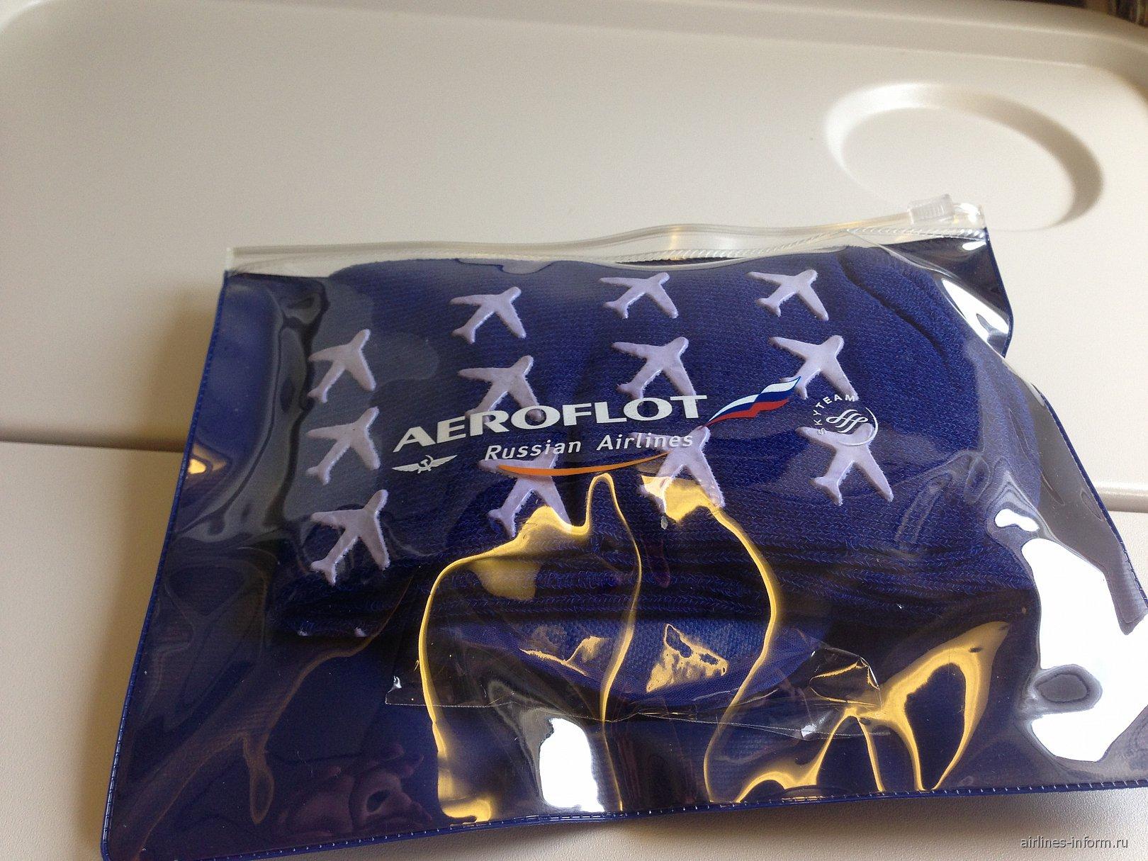 Набор для пассажира на Боинге-777-300 Аэрофлота