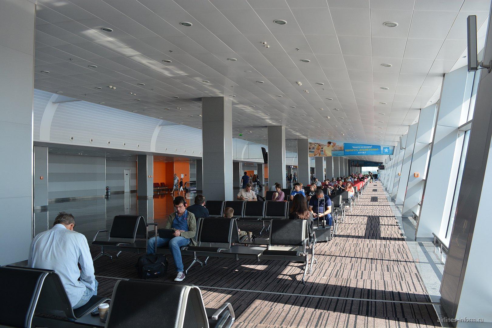 Зал ожидания в чистой зоне терминала D аэропорта Борисполь