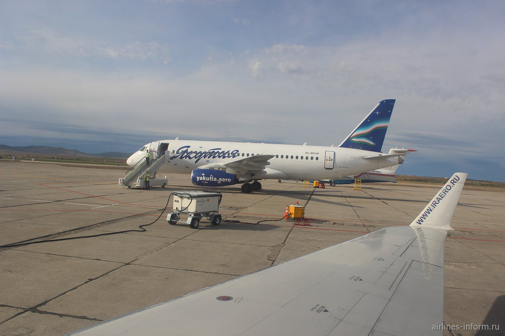 SSJ-100 Якутии в аэропорту города Чита (RA-89038)