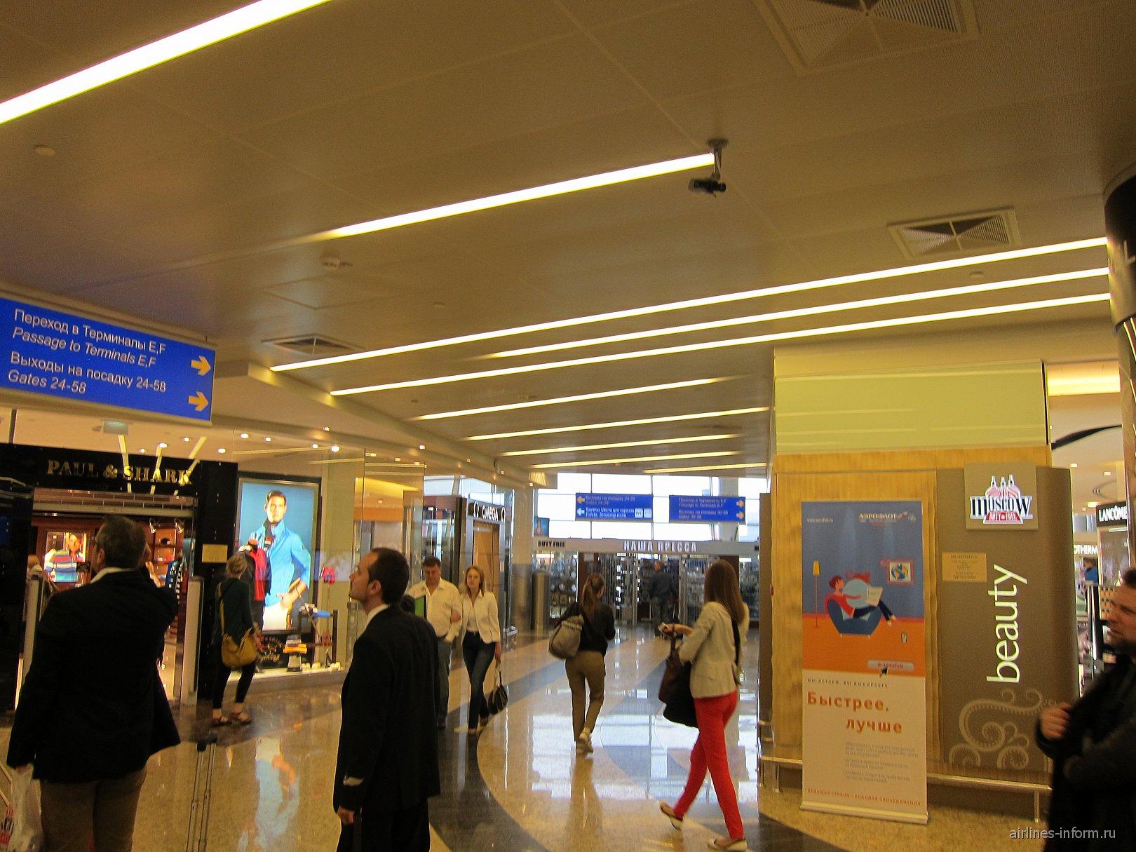 В терминале D аэропорта Шереметьево