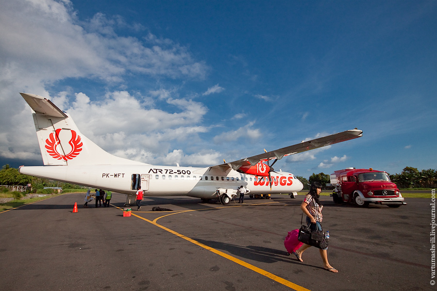 Самолет ATR 72 авиакомпании Wings Air в аэропорту Энде