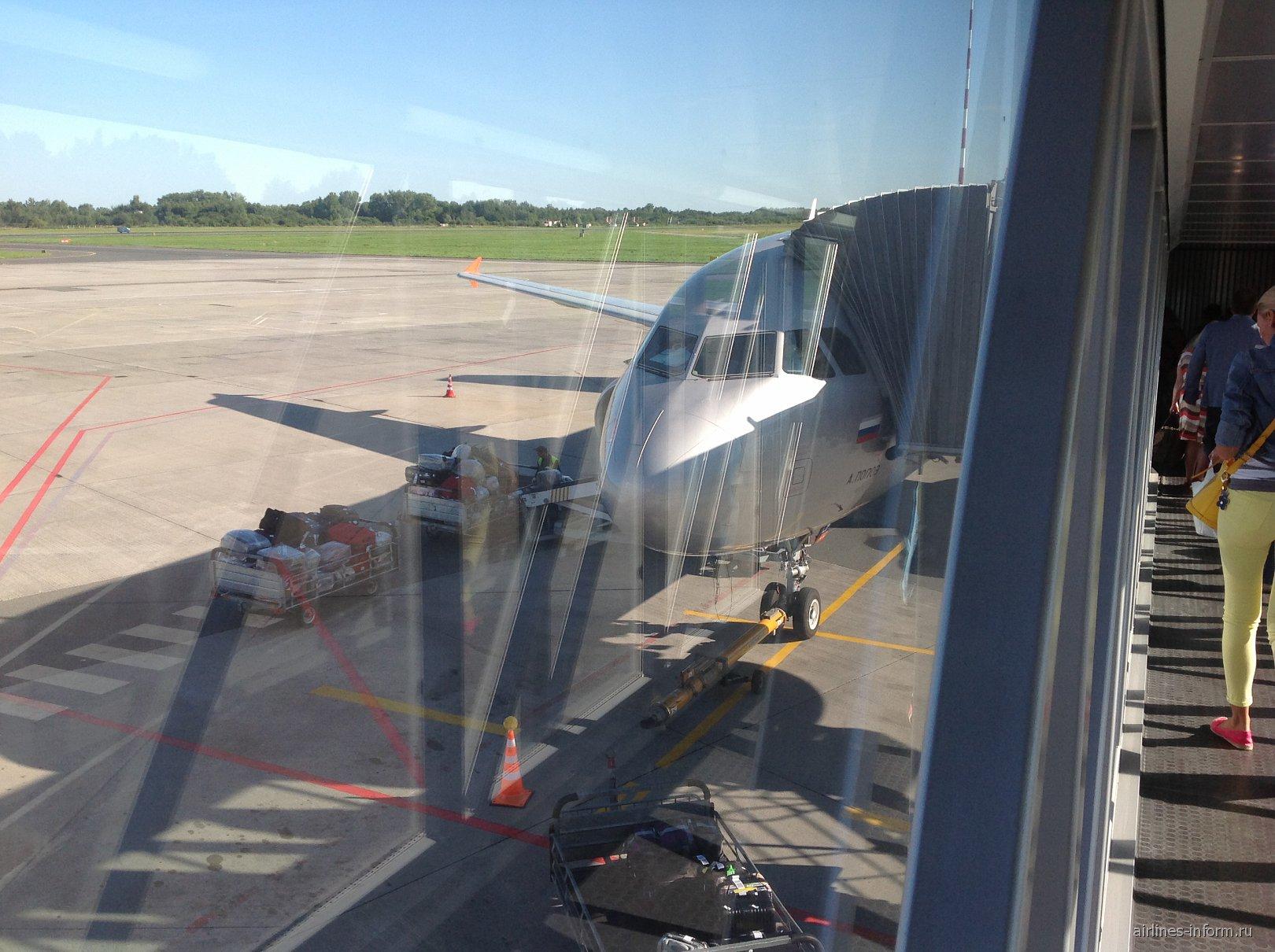 Airbus A320 Аэрофлота в аэропорту Храброво
