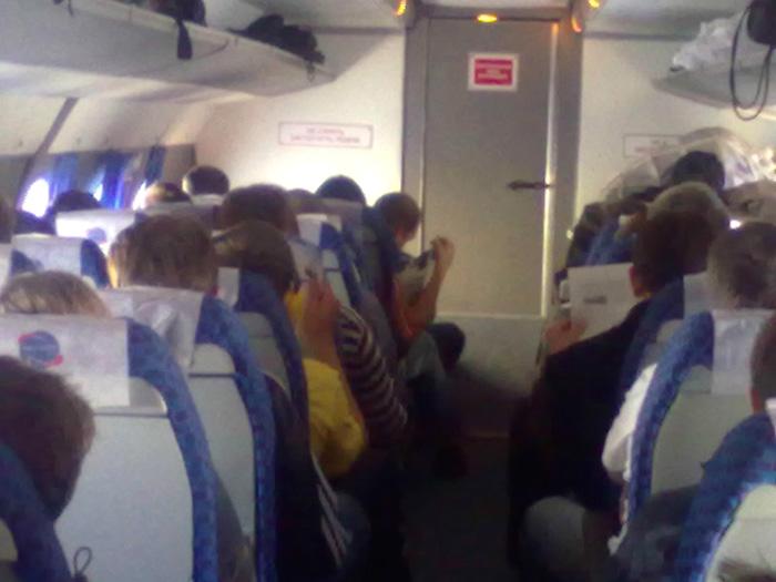 Passenger cabin of Antonov An-24