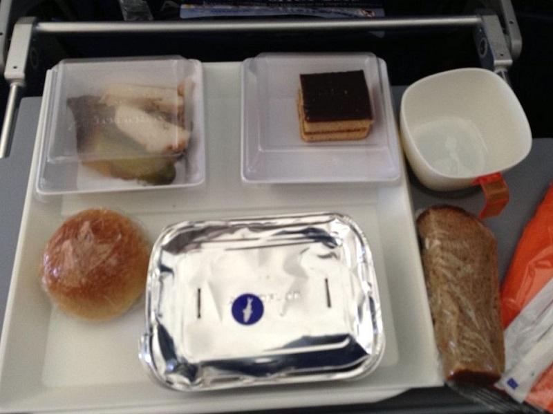 Питание на рейсе авикомпании Аэрофлота Красноярск-Москва