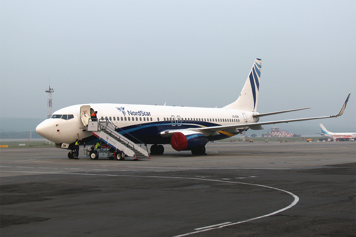 The NordStar Airlines and Krasnoyarsk Airport