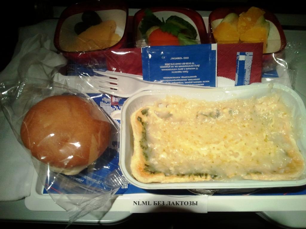 Питание на рейсе Екатеринбург-Москва авиакомпании Трансаэро