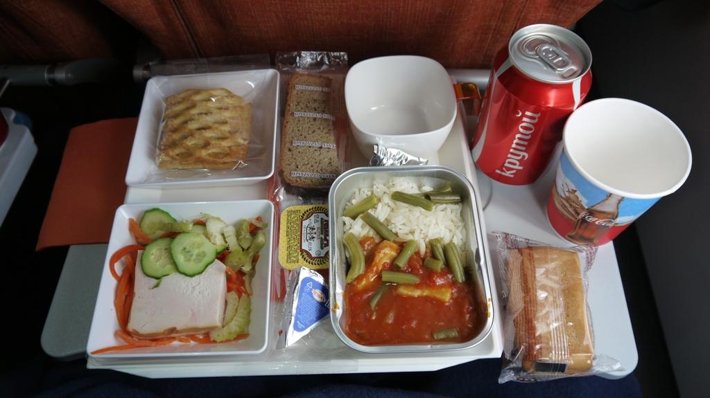 Второе питание на рейсе Аэрофлота Москва-Гавана