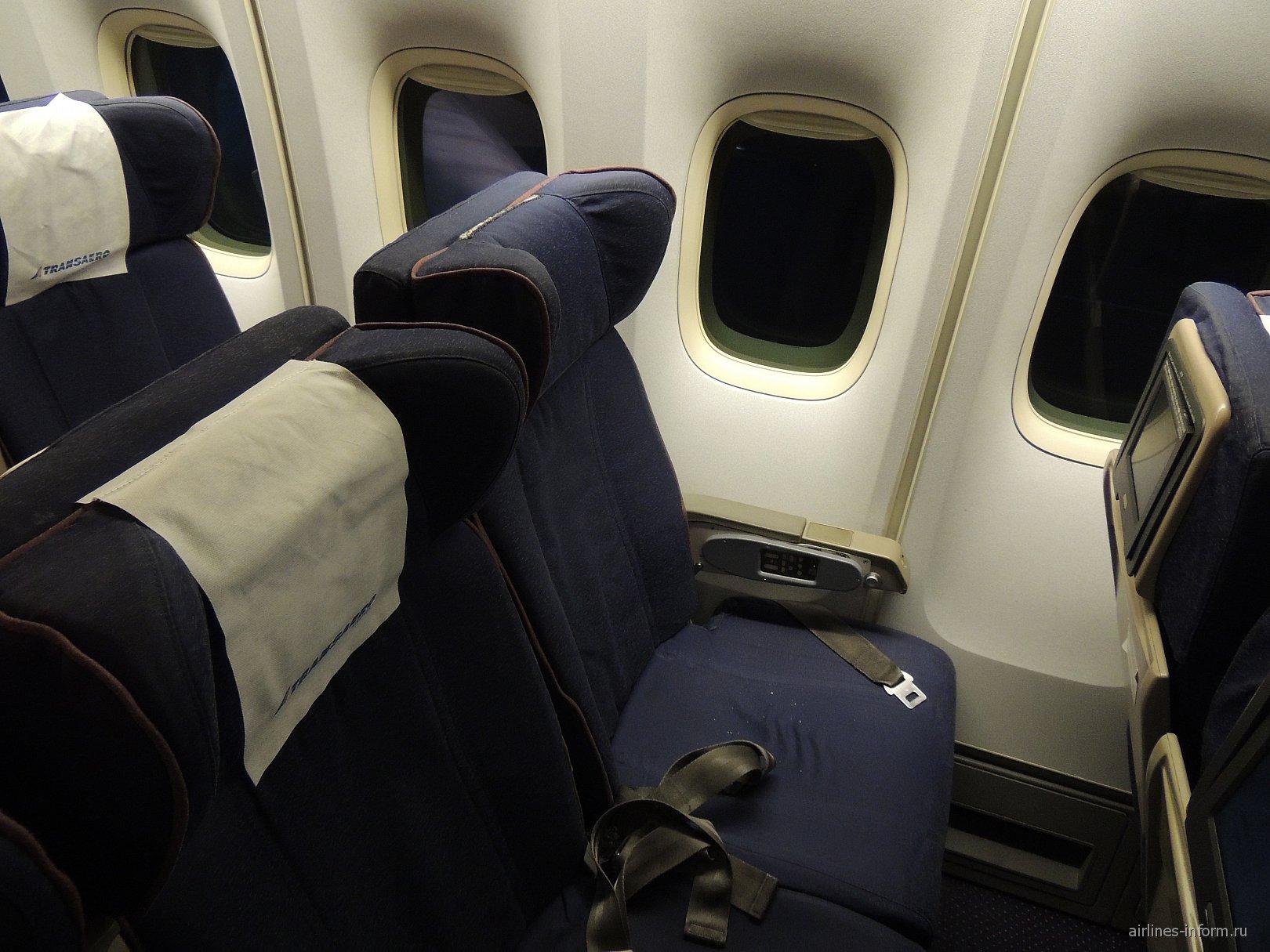 Пассажирские кресла в самолете Боинг-747-400 авиакомпании