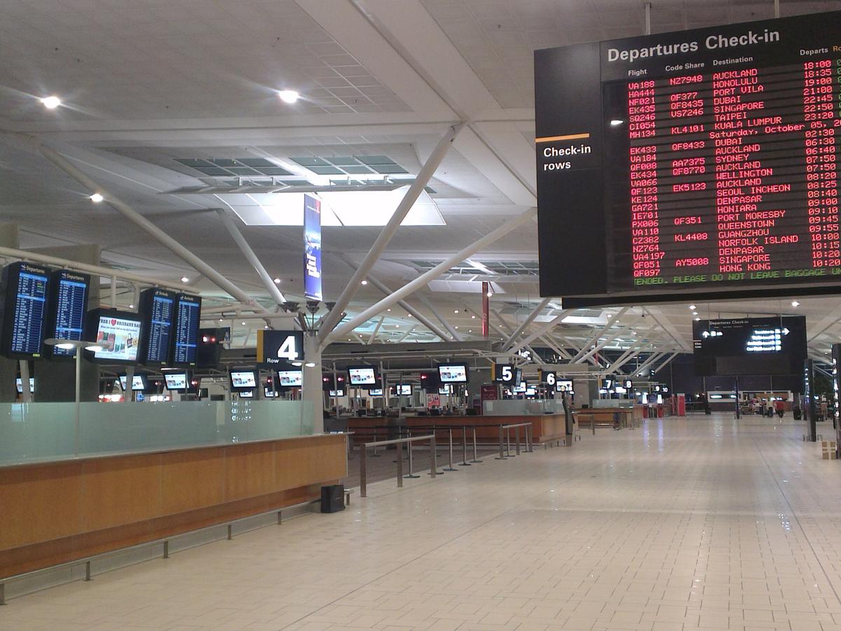 Стойки регистрации в аэропорту Брисбен
