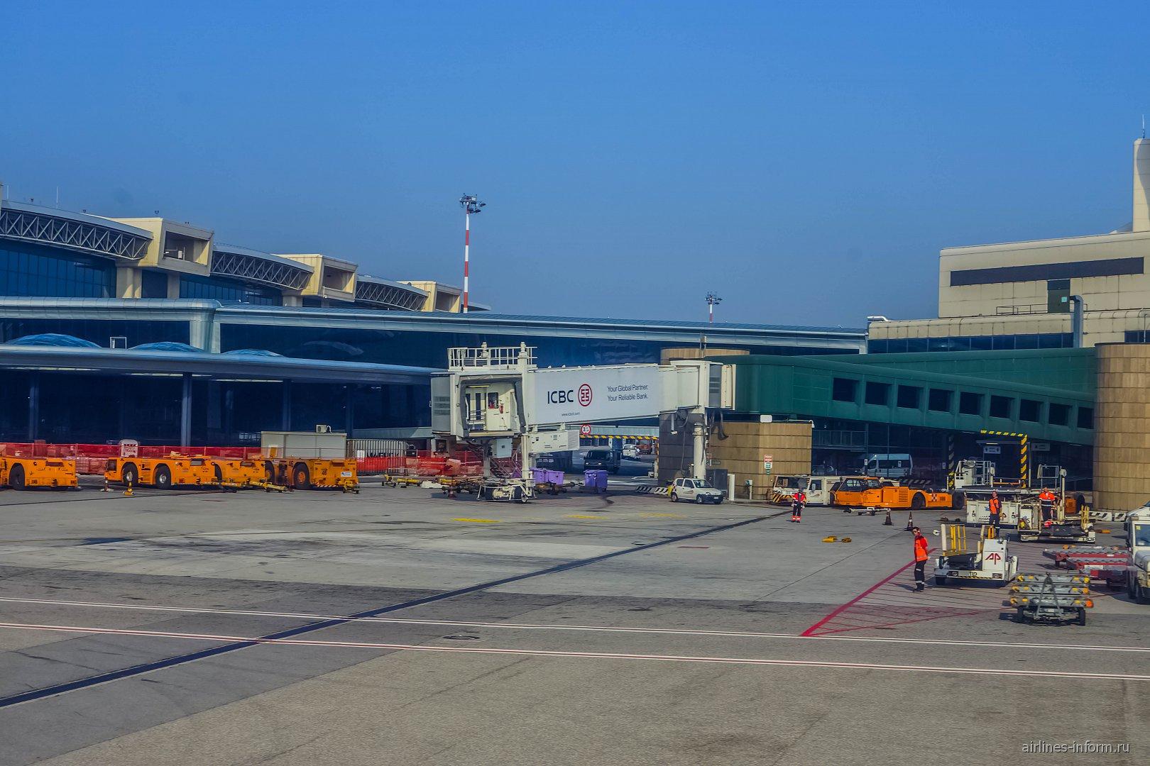 Гейт B1 терминала 1 аэропорта Милан Мальпенса