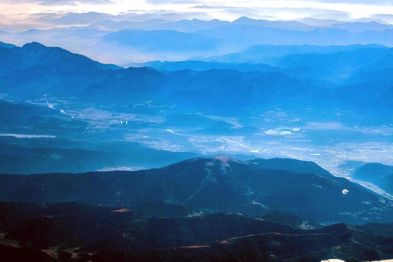 Вид на Альпы в Австрии