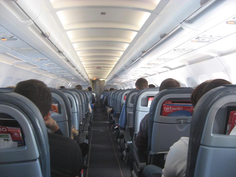 Салон самолета Airbus A320 авиакомпании Air Berlin