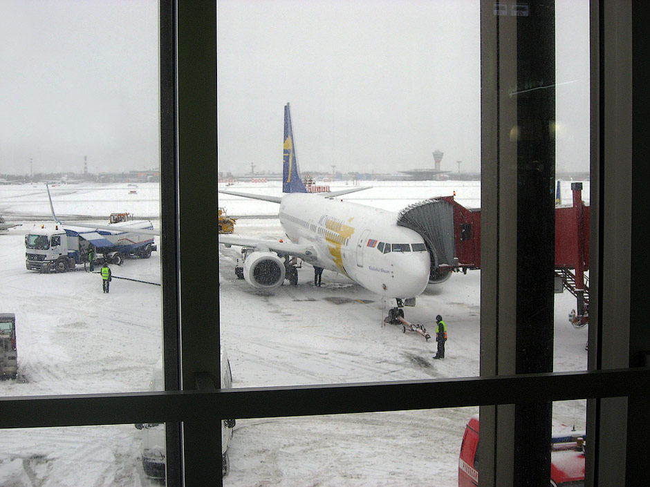 Boeing 737-800 of Mongolian Airlines in Moscow