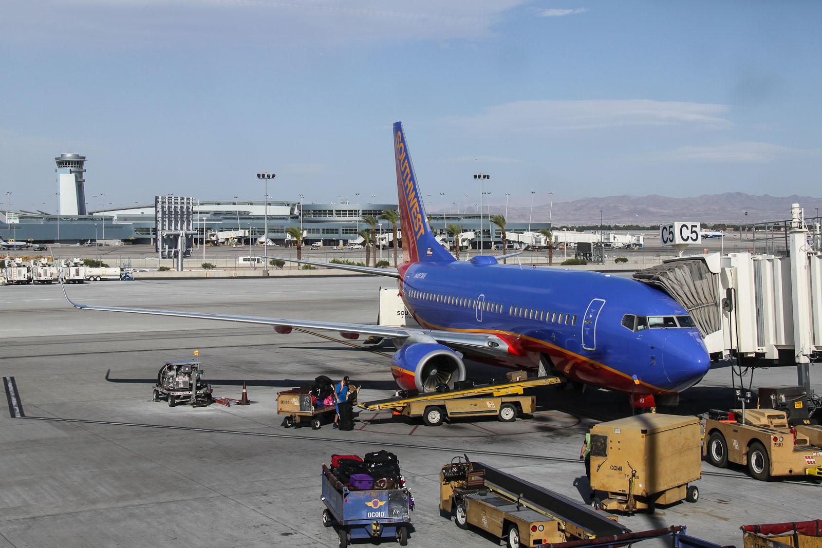 Boeing 737-700 N487WN авиакомпании Southwest в аэропорту Лас-Вегаса