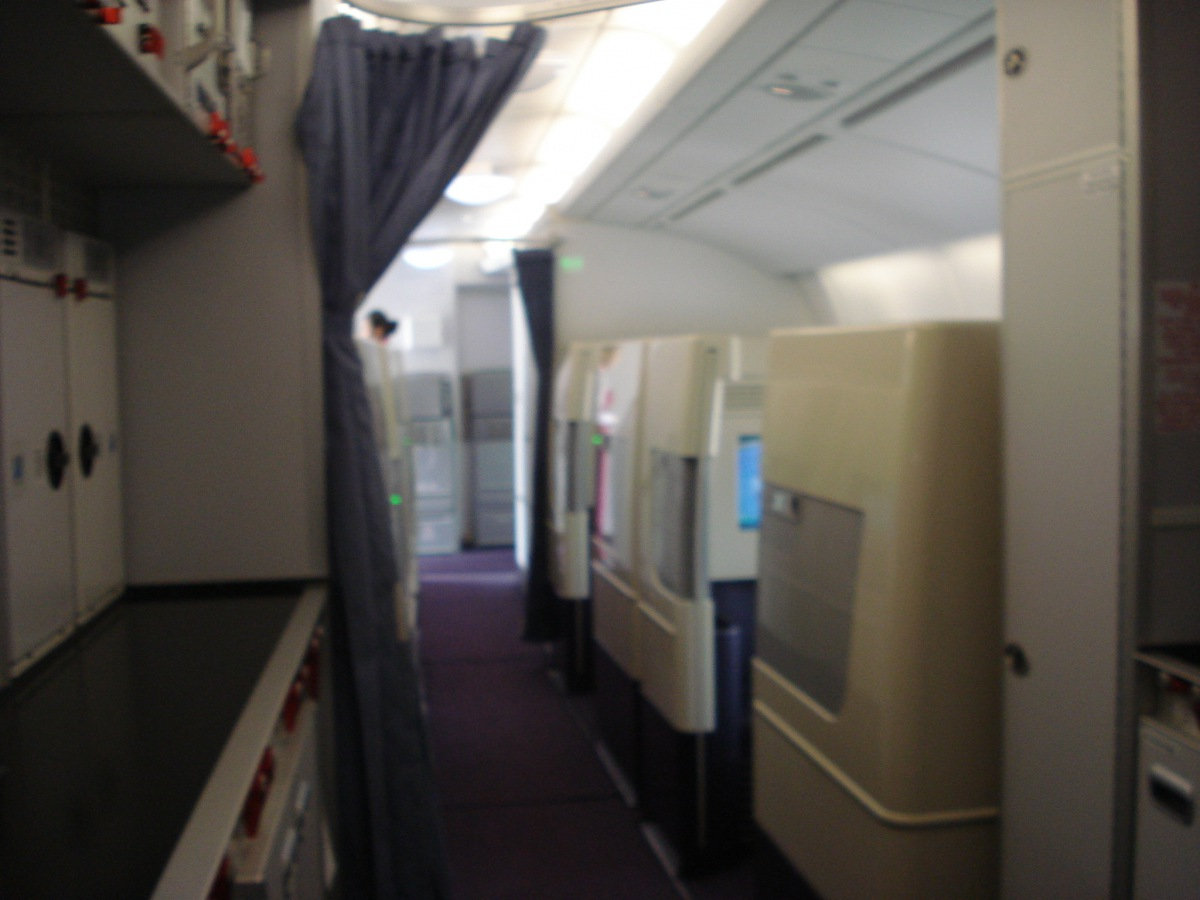 Passenger cabin of Airbus A380 China Southern Airlines