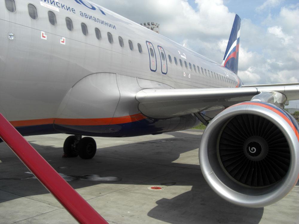 Airbus A320 Аэрофлота в аэропорту Казань