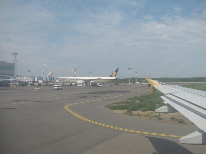 Departing from Moscow Domodedovo Airport