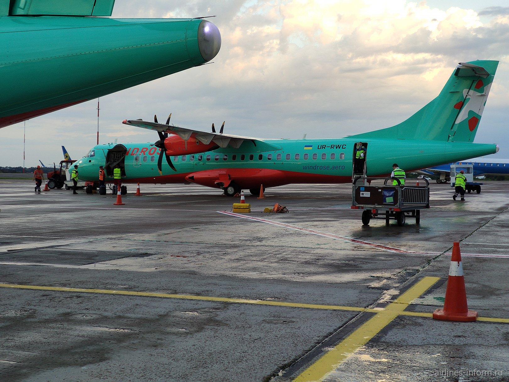 Вокруг Украины. Киев (KBP) - Харьков (HRK) ATR72-600 Windrose.
