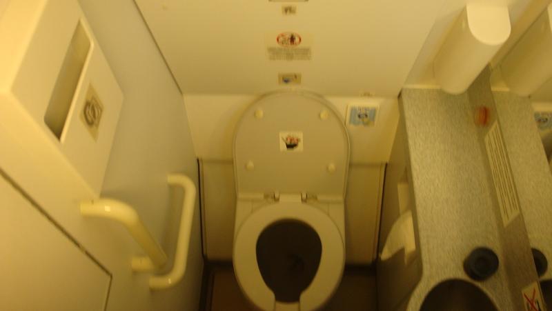 Туалет самолета Airbus A319 авиакомпании Air Astana