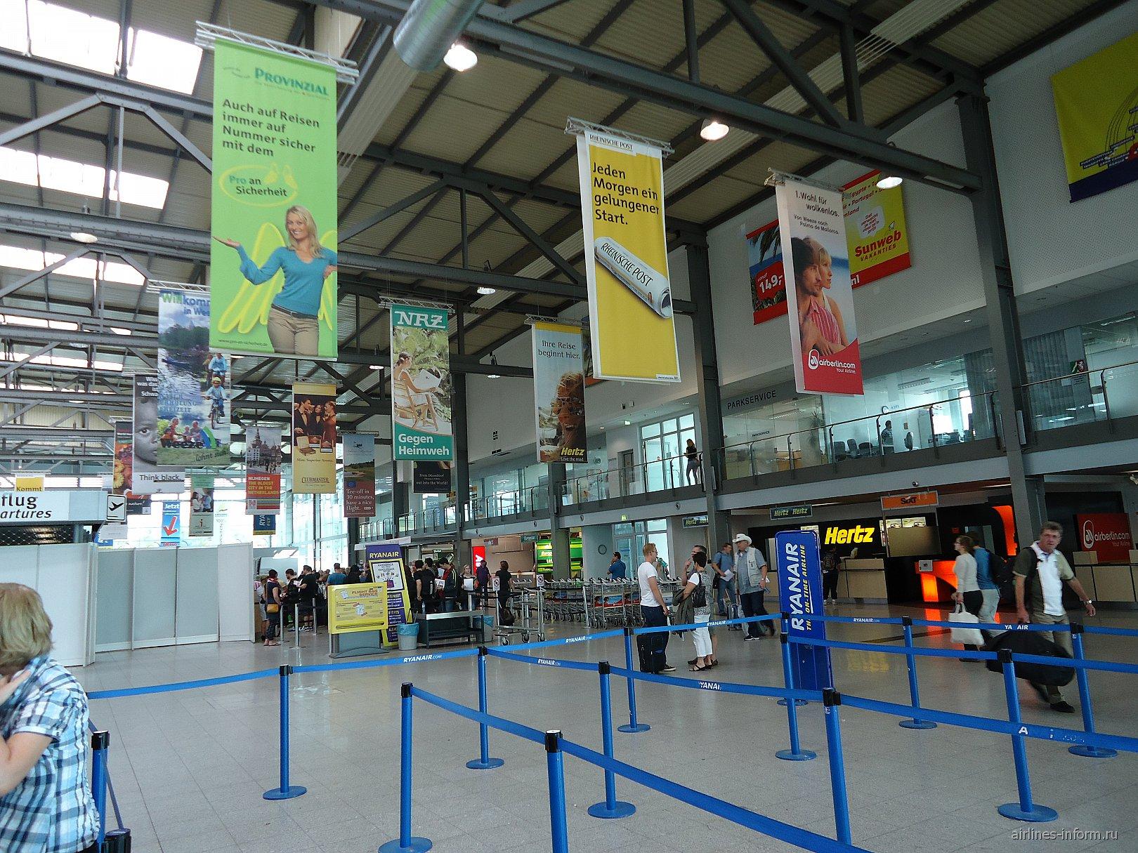 В аэровокзале аэропорта Веезе