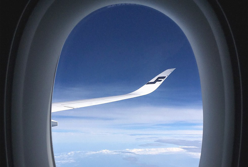 The time between goodbye and hello. Find the beauty in between. Бангкок - Хельсинки на борту Airbus A350 Finnair.