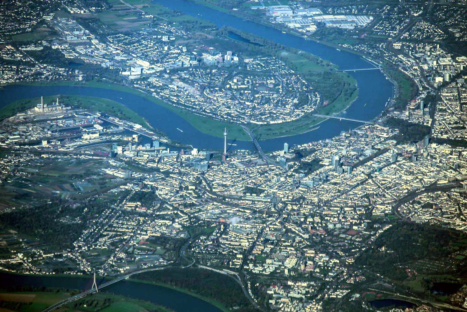Центр города Дюссельдорф в Германии