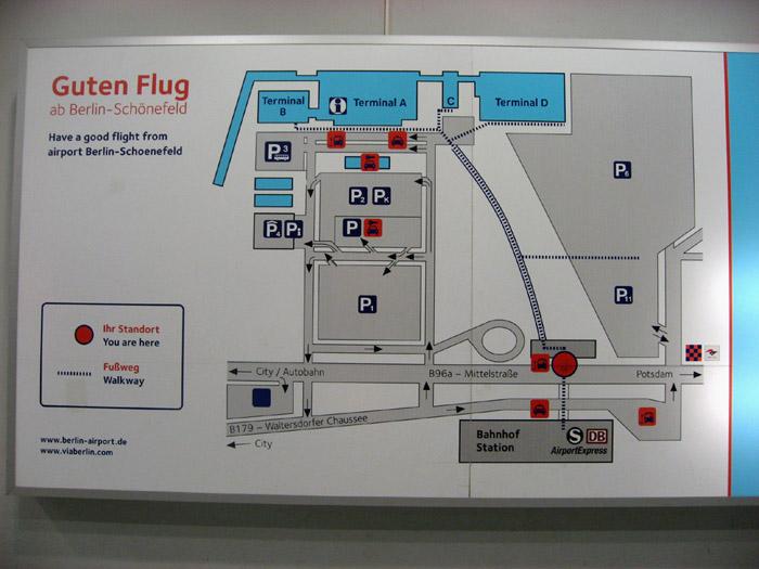 Схема аэропорта Берлин Шонефельд