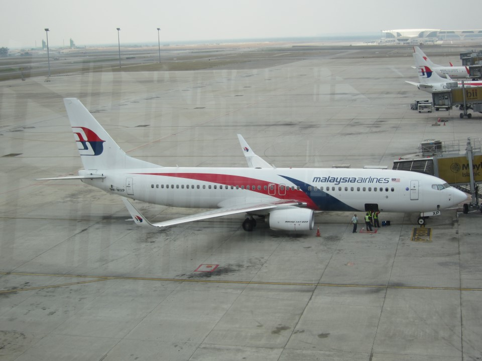 Боинг-737-800 Malaysia Airlines в аэропорту Куала-Лумпура