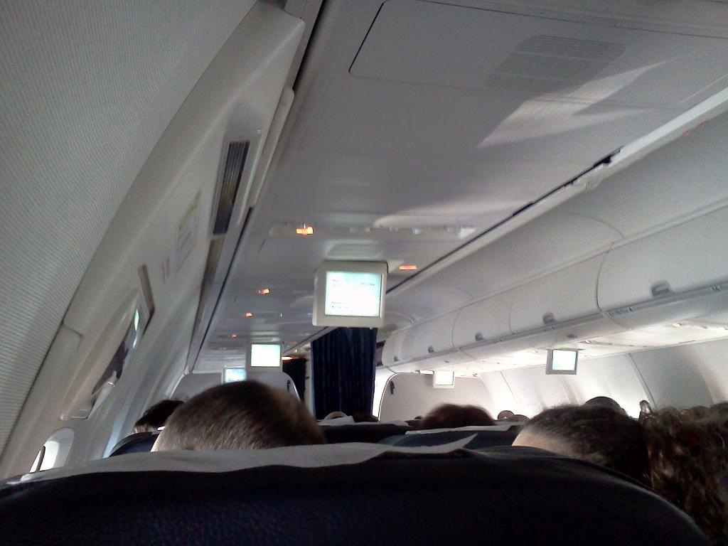 At a Boeing 737-700 of Transaero airlines
