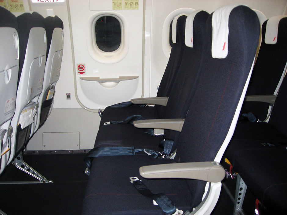 Passenger cabin of an Air France Airbus A320